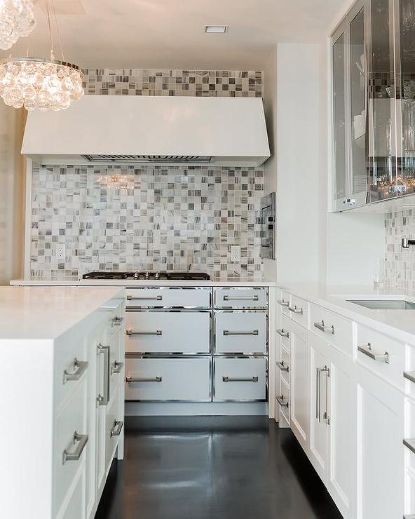 White Kitchen Cabinets With Stainless