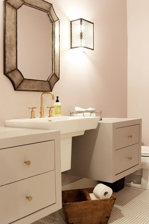 gray floating bathroom cabinets with wall mount sink view full size