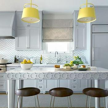 Gray Kitchen With Pops Of Yellow