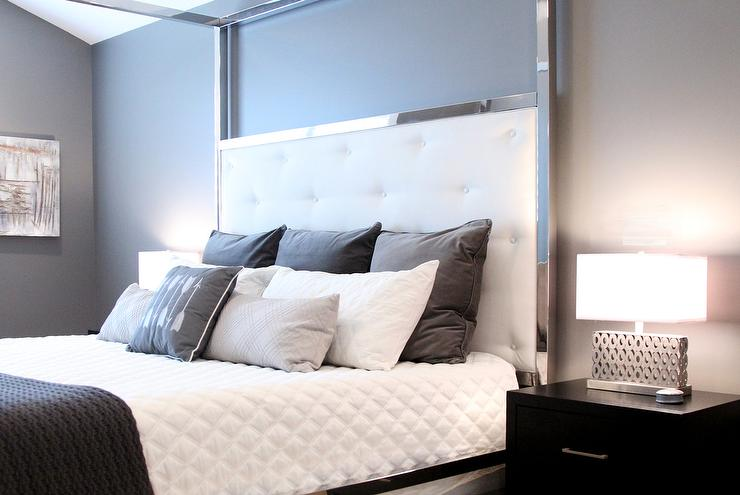 Gray Tufted Bed Design Ideas