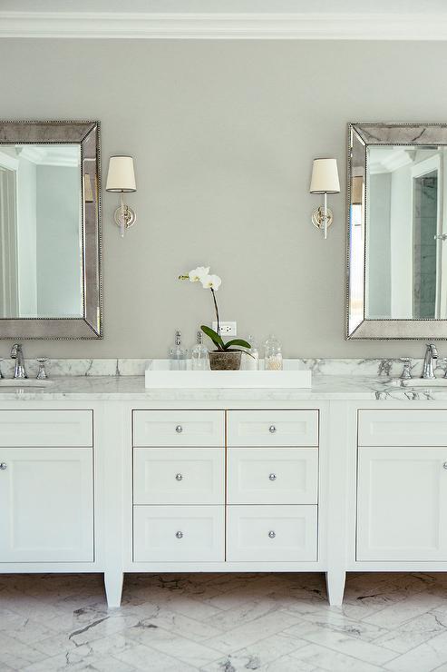 Venetian Beaded Mirror Traditional Bathroom
