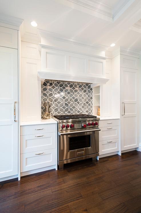 Princess Bedroom Design Design Ideas Gorgeous kitchen boasts white shaker cabinets painted Benjamin Moore White  Heron paired Princess White Quartzite countertops and Ann Sacks Beau Monde  Glass  . Princess Design Kitchens. Home Design Ideas