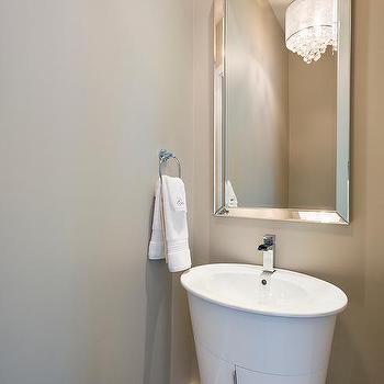 beveled powder room mirror design ideas