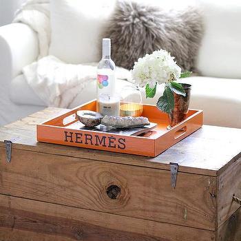 Vintage Hermes Tray Design Ideas - Hermes coffee table