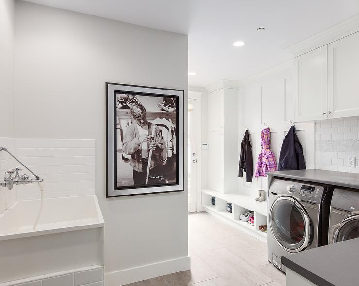laundry room subway tiles design ideas