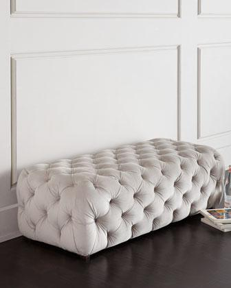 White Shower Bench