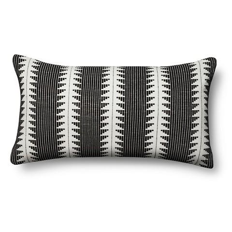 oversized lumbar black and white pillow. Black Bedroom Furniture Sets. Home Design Ideas