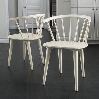 Marlow Ii White Side Chair Crate And Barrel