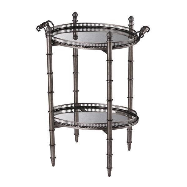 Tyrella Silver Tray Accent Table View Full Size