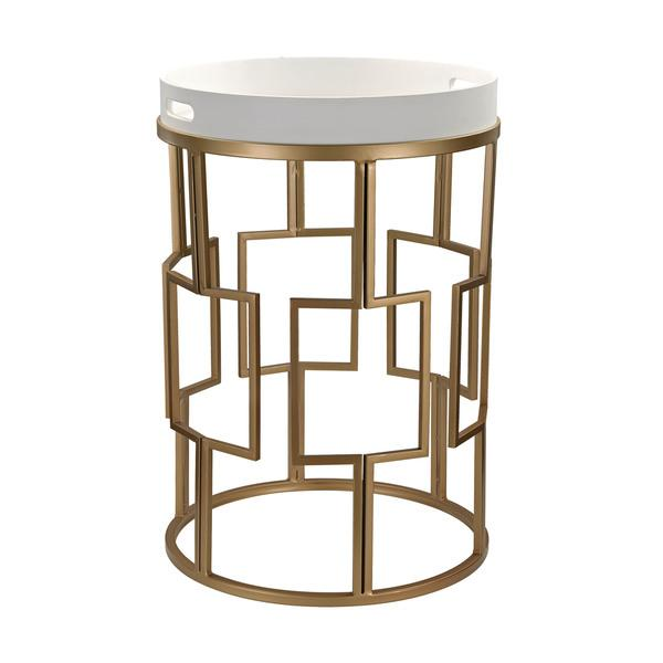Sterling Gold And White Accent Table