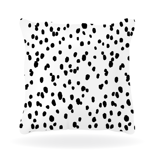 Black Seeing Spots Pillow