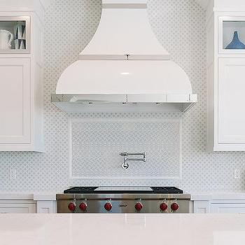 White Kitchen Hood white enamel kitchen hood design ideas