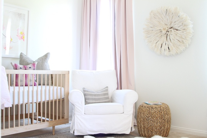 Pink And Gold Nursery With Cotton D