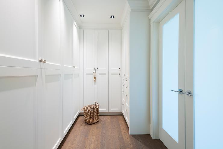 Walk In Closet With Stacked Cabinets
