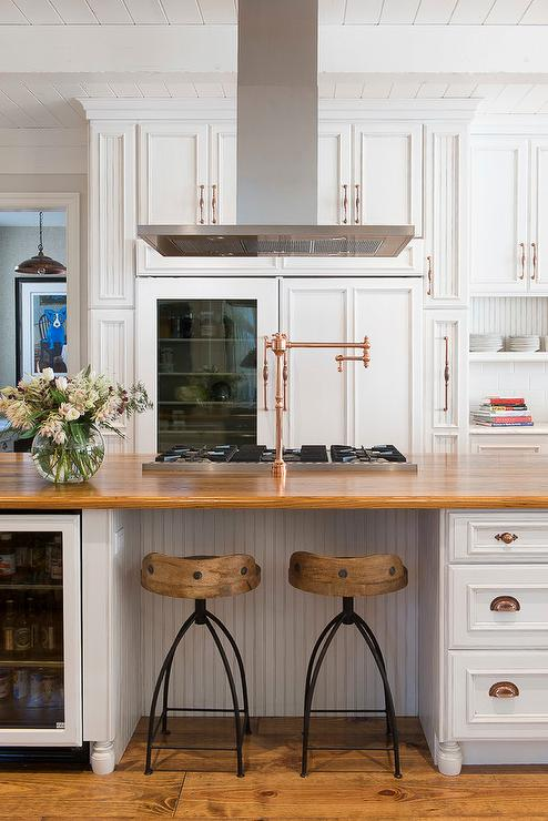 view full size stunning kitchen features white raised panel cabinets adorned with copper hardware. beautiful ideas. Home Design Ideas