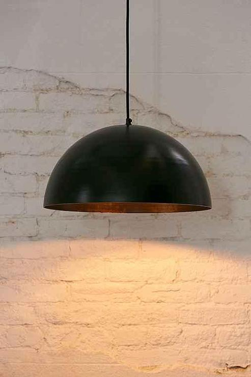 Black Iris Dome Large Pendant Light