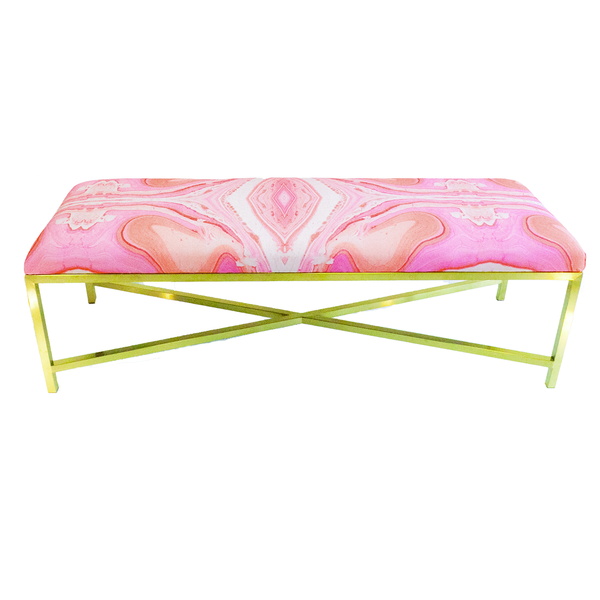Pink Marble Eleanor Bench