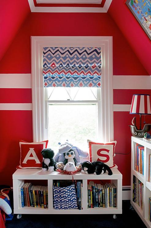 Kids Room With Open Bookshelf