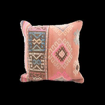 Pink And Orange Turkish Kilim Pillow
