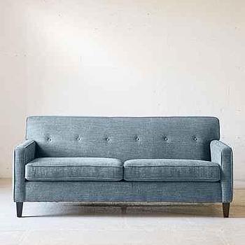 Ethan Marled Chenille Teal Sofa