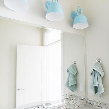 Blue bathroom with turquoise tiles contemporary bathroom for Brown and aqua bathroom ideas