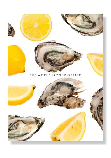 Yellow The World Is Your Oyster Print
