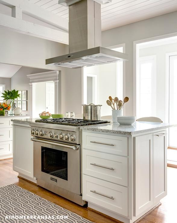 Island Countertop With Stove : Kitchen Island with Freestanding Stove - Transitional - Kitchen