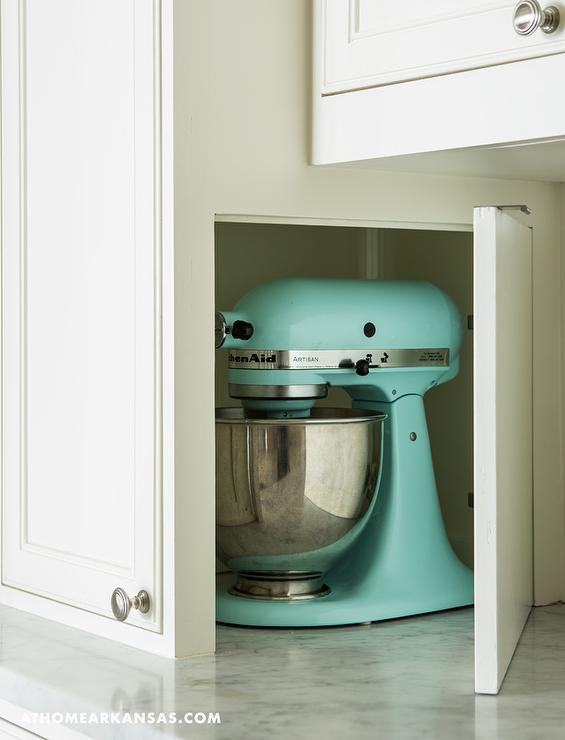 Superbe Kitchen With KitchenAid Mixer Cabinet