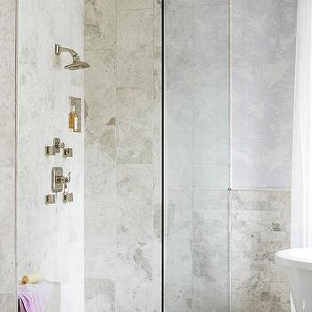 M Corner Seamless Glass Shower