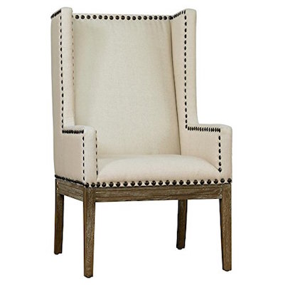Cool Bliss Studio Linen Nailhead Dining Chair Look For Less Bralicious Painted Fabric Chair Ideas Braliciousco