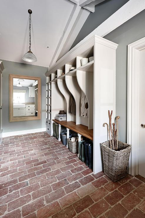 Brick floor design ideas for Mudroom floor