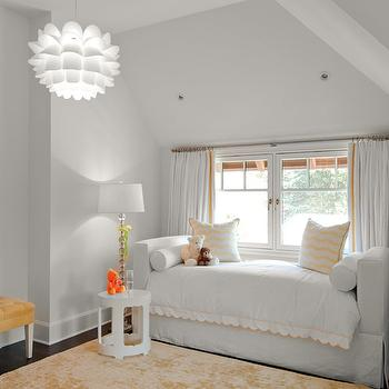 White And Orange Toddler Room With Daybed