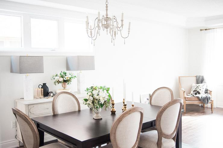 View Full Size Chic Dining Room Features A French