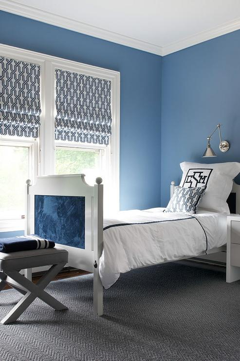 blue boy bedroom with gray accents contemporary boy s room