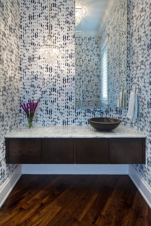 Powder Room Vanity walnut powder room vanity design ideas