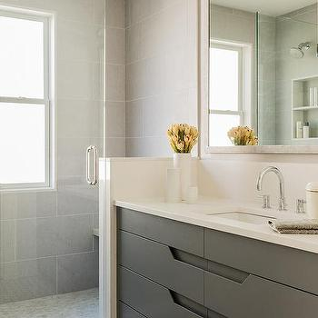 White Quartz Bathroom Counter off white quartz bathroom countertops design ideas