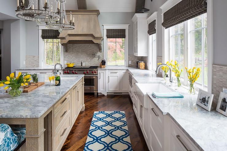 Vanilla Ice Granite Kitchen Countertops Transitional Sherwin Williams Light French
