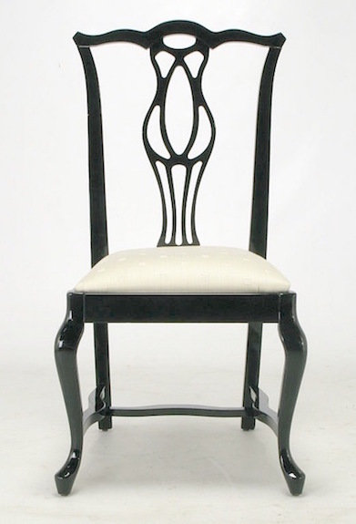 Pleasing 1St Dibs Italian Black Lacquer Chinese Chippendale Dining Chair Ocoug Best Dining Table And Chair Ideas Images Ocougorg