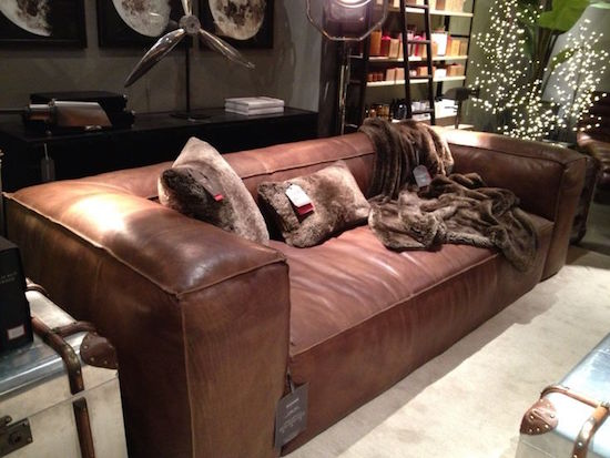 Restoration Hardware Fulham Leather Sofa View Full Size