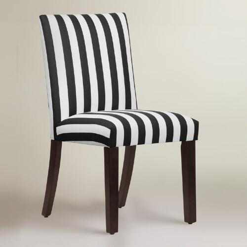 Marvelous Black And White Stripe Dining Chair