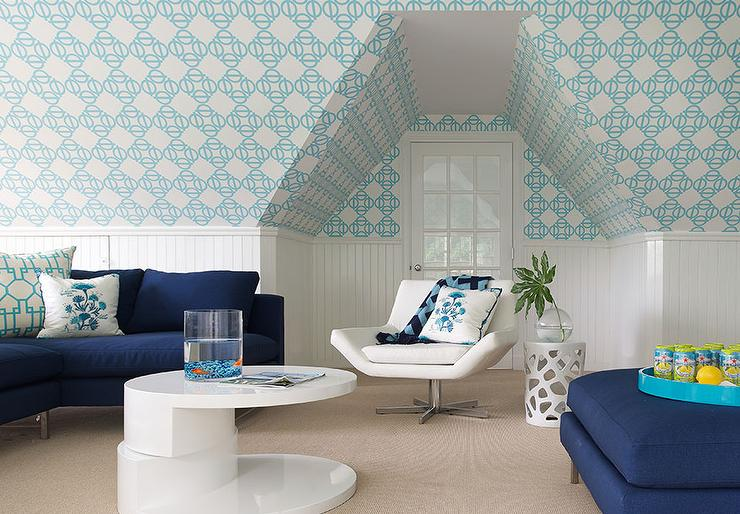 Beige Geometric Wallpaper Design Ideas