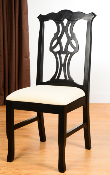 wood chippendale side chair view full size