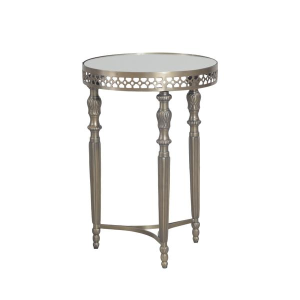 Bombay Outlet Monaco Silver Antique Brass Round Table