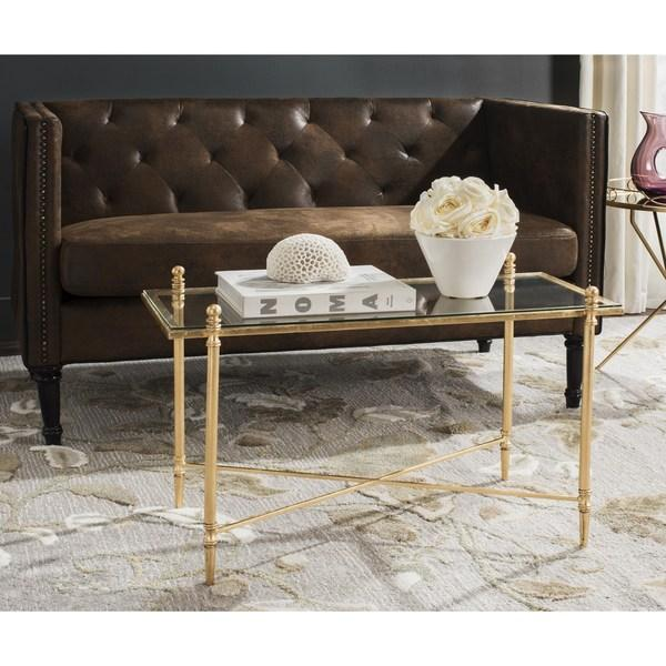 Antique Gold Coffee Table: Safavieh Tait Antique Gold Leaf Coffee Table