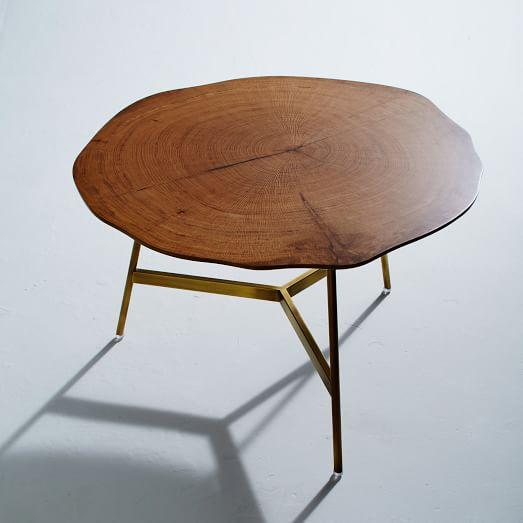 End Grain Coffee Table.Brown End Grain Coffee Table