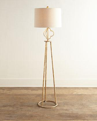 Florence gold floor lamp