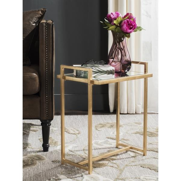 Safavieh Renly Antique Gold Leaf End Table View Full Size