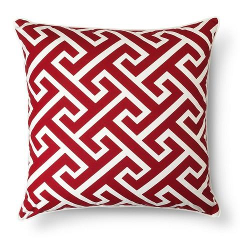 Threshold Red Oversized Greek Key Throw Pillow