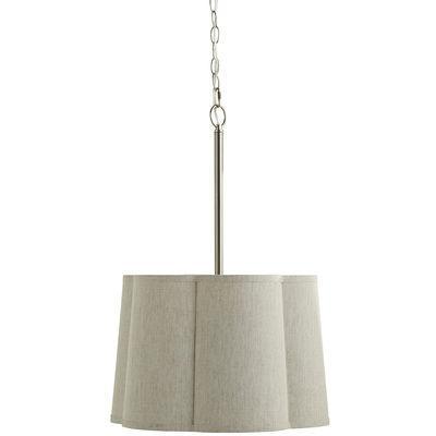 sculpted linen gray pendant light