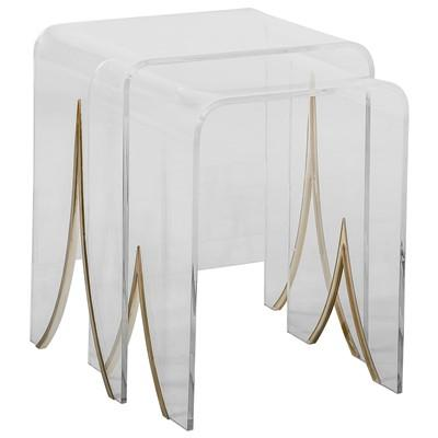 Modern Dose Clear Acrylic Nesting Tables - Clear nesting tables